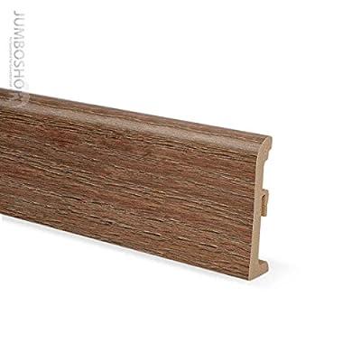 2,5m Sockelleisten Kunststoff Fussleisten 80mm x 19mm -- ULTIMA 013 Eiche Braun -- PVC Scheuerleiste Fußbodenleiste EXKLUSIV