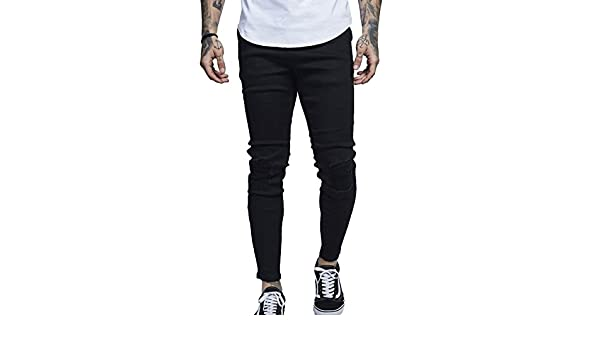 Herren Destroyed Jeans Stretch Hose Biker Motorradjeans Jeanshose Slim Fit  Schwarz 4XL  Amazon.de  Bekleidung e48b629d9a