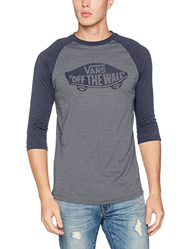 Vans_Apparel Herren T-Shirt Otw Raglan, Blau (Heather Grey/Navy Heather), X-Large (Blue Navy Raglan-t-shirt Heather)