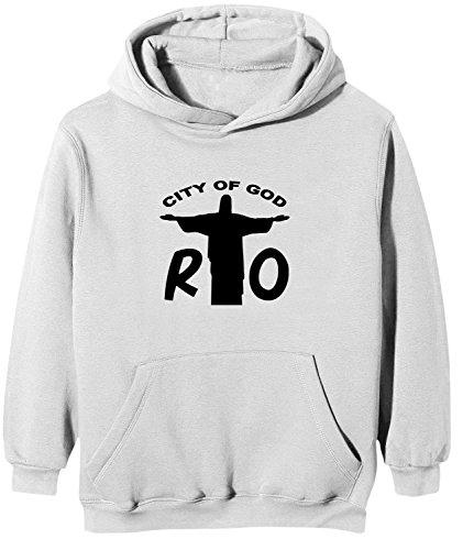 Touchlines Kinder Kapuzen Sweatshirt Rio - City of God, white, 110/116, KK166