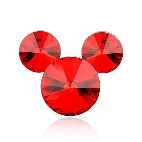 Broche mode cristal Swarovski Element Mickey Mouse Minnie Style Femmes Broche
