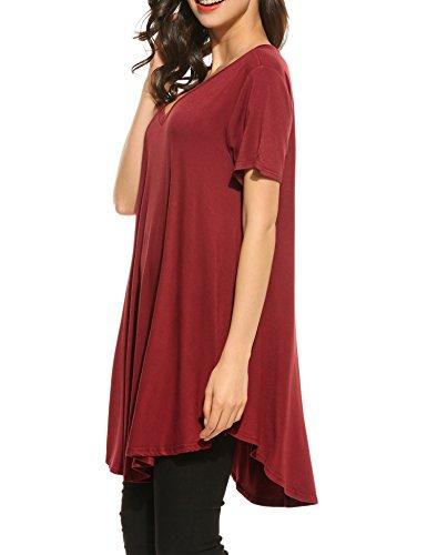 HOTOUCH -  T-shirt - Maniche corte  - Donna Wine Red
