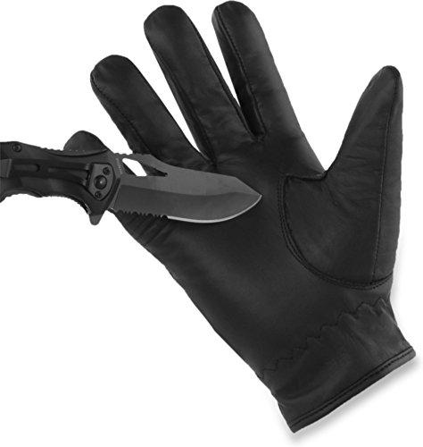 normani Schnittschutz Security Polzei Handschuhe mit Quarzsandfüllung und Kevlar Innenmaterial - auch in Übergröße [XS-5XL] Größe XL