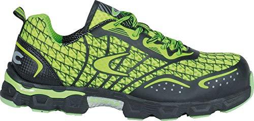 COFRA® Arbeitsschuhe Low Kick S1P sehr leichte extrem atmungsaktive Sicherheitsschuhe in Mehreren Farben (44, Lime/Grün)