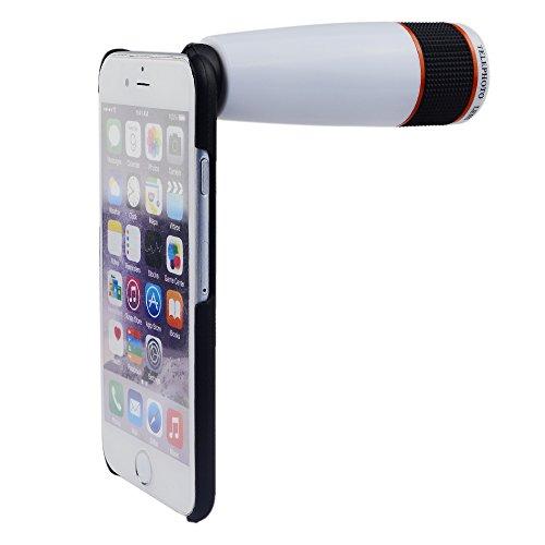 Apexel 12 x optischer Zoom, Telephoto-Linse, Schutzhülle für iPhone 6, weiß billig