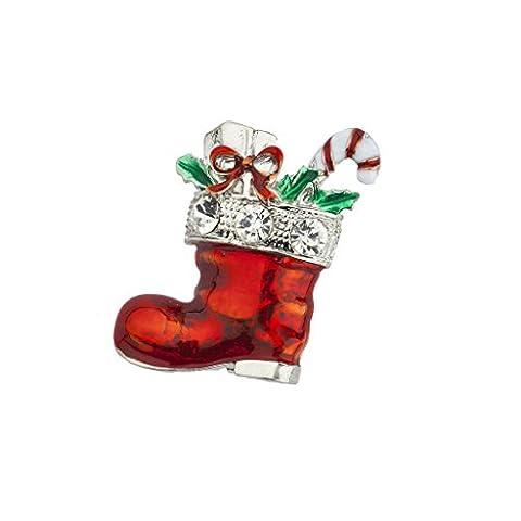 LUX Zubehör Urlaub Weihnachtsstrumpf Wurststopfer Geschenke Candy Cane Brosche