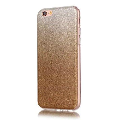 iPhone Case Cover Transparente Steigung-Farben-weiche TPU Schutzüberzug-Fall-weiche rückseitige Abdeckung für iPhone 6s plus ( Color : Rose , Size : IPhone 6s Plus ) Brown