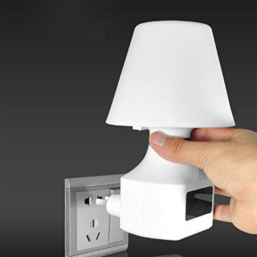 220 Wecker (DE-Wandlampe LED Seeksung Pilz Nachtlicht Baby Stillen Schlaf Bett Schlafzimmer Bett Plug & Socket Beleuchtung 3000K Lampen Uhr Wecker Fernbedienung innerhalb von 10 Metern 220V , A)