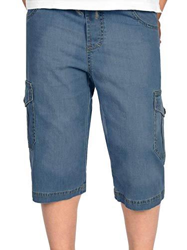 BEZLIT Kinder Kurze-Hose Jungen Jeans Cargo-Shorts Capri-Hose Bermuda-Shorts Gummibund 30056 Navy 140 Cargo-kinder-capris