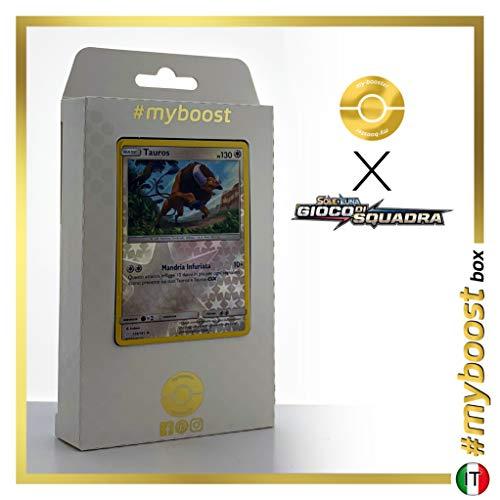 Tauros 129/181 Holo Reverse - #myboost X Sole E Luna 9 Gioco di Squadra - Box de 10 Cartas Pokémon Italiano