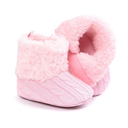 Fire Frog  Snow Boots,  Baby Mädchen Schneestiefel Rose