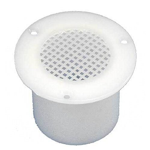Fawo Boden Lftungsgitter Runde Masche Loch 60mm (40mm) (Weiß)