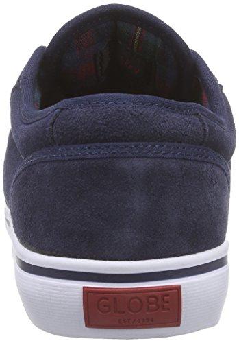 Globe Motley Unisex-Erwachsene Sneakers Blau (13180 navy/plaid)