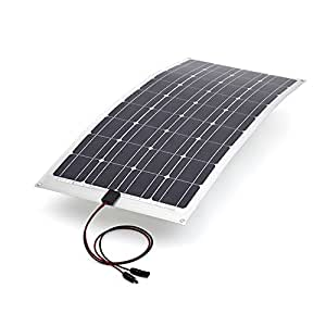 100w flexibles photovoltaik solarpanel 100 watt solarmodul monokristallin silizium. Black Bedroom Furniture Sets. Home Design Ideas