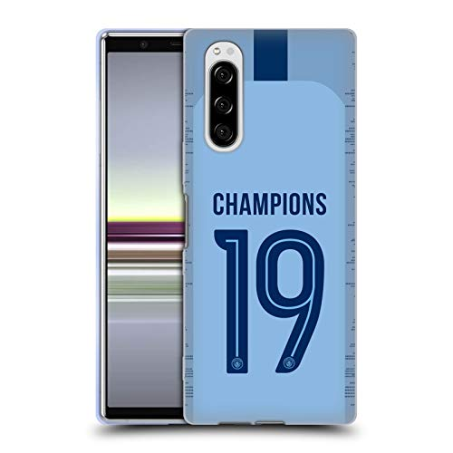 Head Case Designs Offizielle Manchester City Man City FC Home Kit 2019 Champions Soft Gel Huelle kompatibel mit Sony Xperia 5