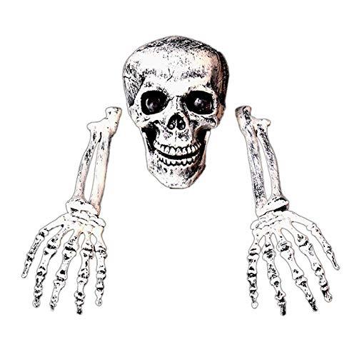 Halloween Deko, Deko Skull Skelett Bausatz, Halloween Figuren Dekoration Requisite, Horror Dekorationen Ghost Skeleton, schwarz cyan - Yves25Tate