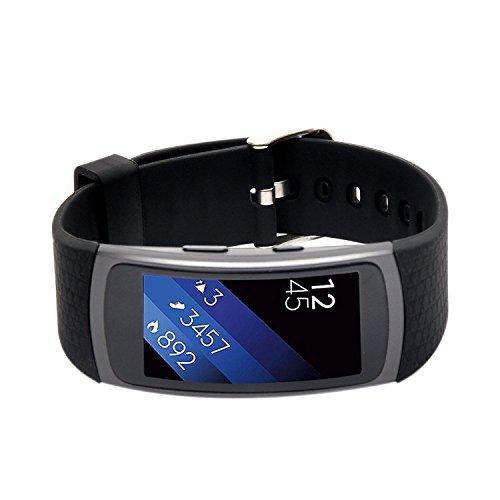 Woodln Gear Fit2 Smart Watch Zubehör Uhrenarmbänder Replacement Strap Band Uhrenarmband Erstatzband Armband für Samsung Gear Fit 2 R360 Fitness Smartwatch (Black)