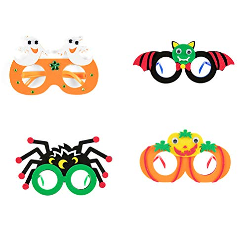 Amosfun 4 Stücke Halloween Brillen Kürbis Bat Ghost Spider Brillen Halloween Party Favors Heikles Dress Up Party Glas Lustige Kostüm Streich Prop für Kinder (Zufällig)