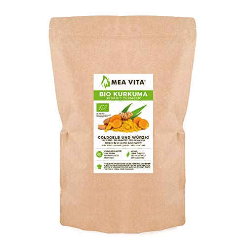 MeaVita Bio Kurkuma, gemahlen, Kurkumawurzel Pulver, 1er Pack (1 x 1 kg)
