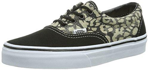 Vans - Sneaker U ERA (WASHED) LEOPAR, Unisex - adulto, Nero (Leopar / Dvf), 36