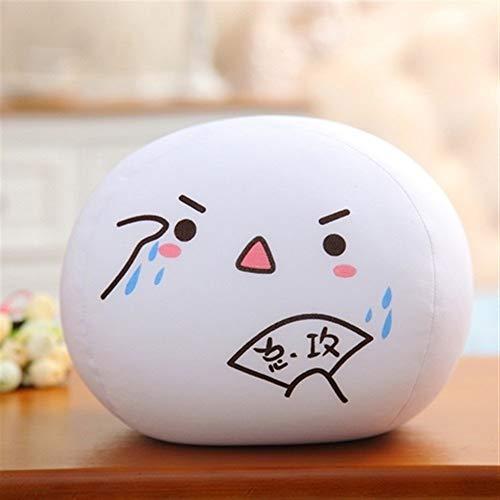 DaTun648 Foam Particles Jun Yan Text Pillow Dumpling Pillow Stuffed Toy Chicken Nuggets Jun Pillow Children's Gifts Pillow As a gift for children's plush toys