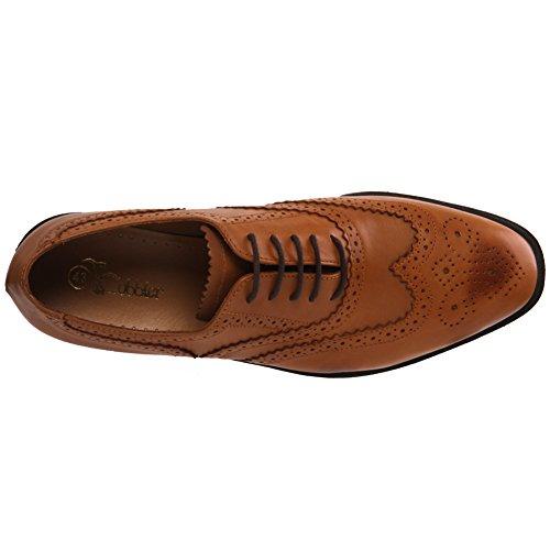 Unze Cuir espagnol à lacets Chaussures Hommes Robe bureau de Thoms de Tan