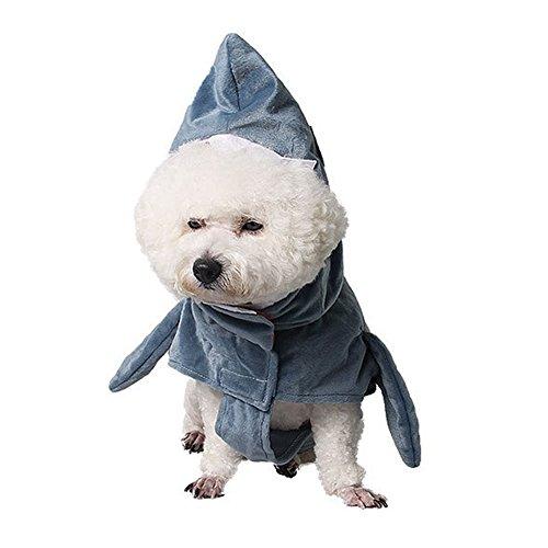 Bello Luna Funny Pet Shark Kostüm Hund Cosplay Bekleidung Haustier Kostüm Hoodie Coat-S