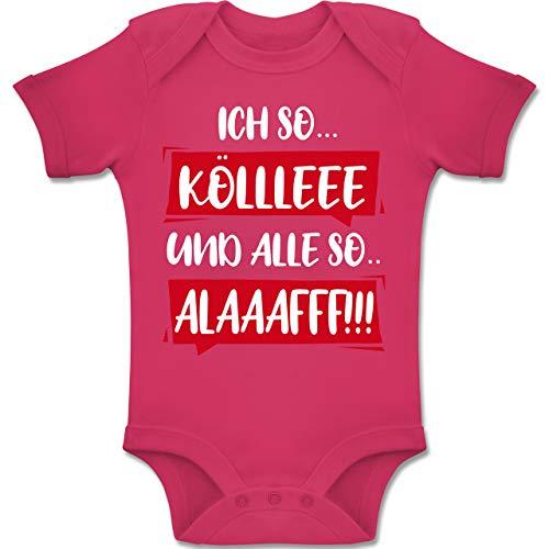 Shirtracer Karneval und Fasching Baby - Ich so. Kölle Alaff Rot-Weiß - 3-6 Monate - Fuchsia - BZ10 - Baby Body Kurzarm Jungen Mädchen