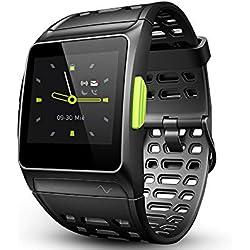 Fitness Tracker GPS con reloj para correr con monitor de ritmo cardíaco, análisis HRV, podómetro, sueño, rastreador de pasos con modos multideportivos, reloj inteligente a prueba de agua 5ATM
