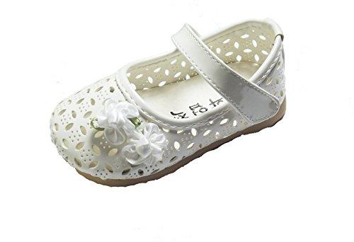 Cinda bébé Flower Girls Chaussures Blanc