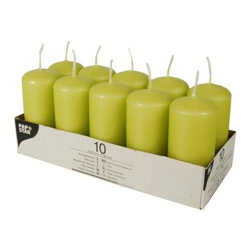 PAPSTAR 10585 Alrededor Verde 10pieza(s) - Vela (90 mm, 4 cm, 85 g, 10 Pieza(s))