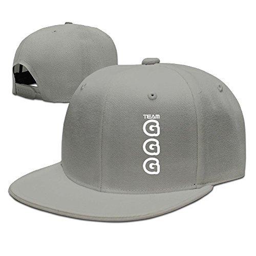 Fashion Unisex Baseball Cap Gennady Golovkin GGG Logo Adjustable Flat Brimmed Hat Summer Black