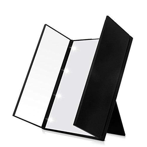 Expower Led Specchio Pieghevole Portatile da Trucco,