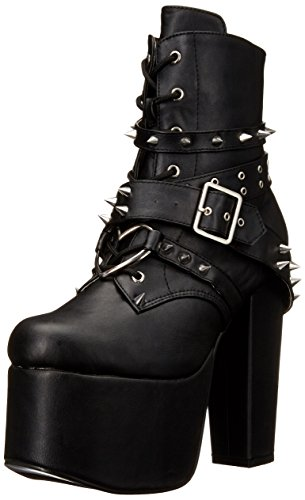 Demonia Damen Torment-700 Kurzschaft Stiefel, Schwarz (Schwarz (Blk Vegan Leather)), 39 EU -