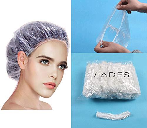 Einweg Duschhaube - 100 Stücke Haar Einweg Duschhaube Badekappe für Friseursalon bearbeitet Haarschutz Haarhaube für Salon, Spa, Reise, Hotel, Dusche -