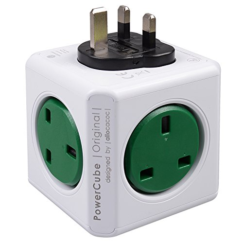 powercube-5-outlets-wall-adapter-power-strips-travel-charger-with-resettable-fuse-kelly-green