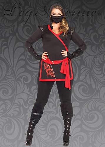 Magic Box Int. Womens Plus Size Ninja Krieger Kostüm 1X/2X (UK 18-20) (Ninja Kostüme Uk)