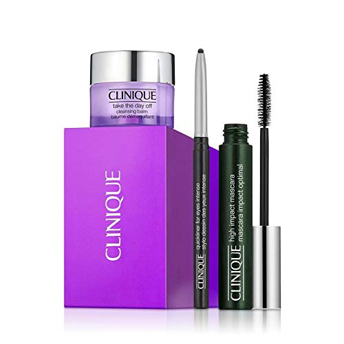 Clinique High Impact Mascara Set mit Mascara, Cleansing Balm und Eye Liner 7ml + 15ml + 0,14g