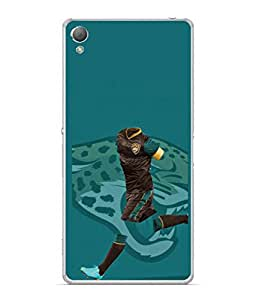 PrintVisa Designer Back Case Cover for Sony Xperia XA :: Sony Xperia XA Dual (Player In Brown Clothes Design)