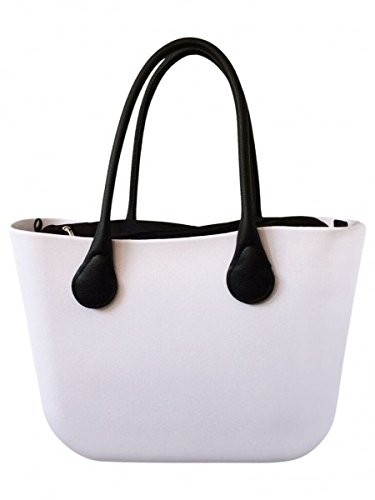 Deininger bags, Borsa tote donna Navy and Flat White and Black