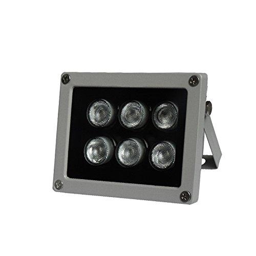 SC2000-Illuminateur Etanche CCTV 40m/131ft LED IR pour Parking 60 Dégres DC12V