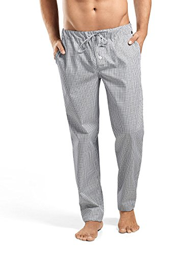 Hanro Herren Schlafanzughose Night & Day Hose Lang Mehrfarbig (Shaded Check 1097)