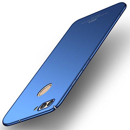 Huawei nova 2 Hülle, MSVII® Sehr Dünn Hülle Schutzhülle Case Und Displayschutzfolie für Huawei nova 2 (Nicht mit Huawei nova kompatibel) - Blau JY00228