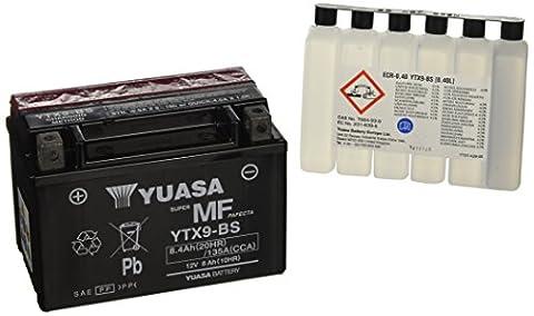 Yuasa YTX9-BS Battery, Black