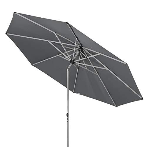 Doppler Active TELESKOP - Innovativer Sonnenschirm ideal für Terrasse und Garten - Knickbar - ca. 340 cm - Anthrazit