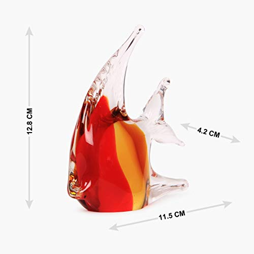 Home Centre Verona Fish Glass Figurine - Multicolour