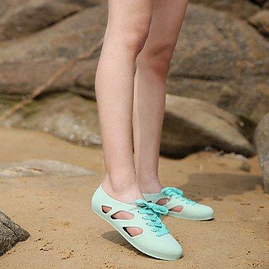 LvYuan Da donna-Sandali-Casual-Comoda-Piatto-Lattice-Nero Giallo Rosa Beige Verde chiaro Blu chiaro Pink