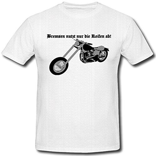 Freni pneumatici motociclo bike rocker–t shirt # 512 bianco x-large