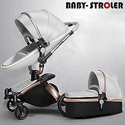 Sistema de Viaje Hot Mom con Silla de Paseo 2019,3 en 1 con función de rotación 360, Gris