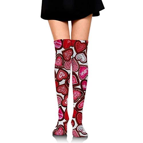 CVDGSAD Knee High Socks All Kinds of Love Long Socks Boot Stocking Compression Socks for Women (Kinder Besten Für Online-shopping-websites)